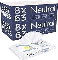 Neutral Baby Billendoekjes Parfumvrij en zonder zeep, voor de gevoelige huid - 16 x 63 doekjes - 1008 stuks