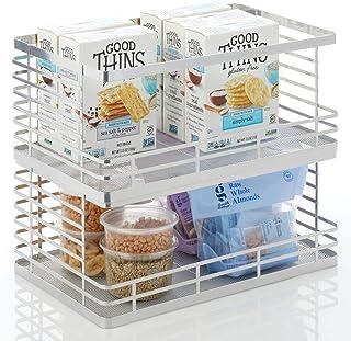 mDesign corbeille à fruits pour la cuisine et salle de bain – panier de rangement ouvert sur le devant et empilable – corb...