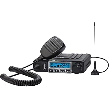 Midland - MXT115, 15 Watt GMRS MicroMobile Two-Way Radio - 8 Repeater Channels, 142 Privacy Codes, NOAA Weather Scan + Alert & External Magnetic Mount Antenna (Single Pack) (Black)
