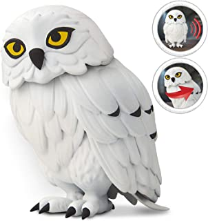 Harry Potter Hedwig Interactive Creature, Official Sound-Activated Hedwig Owl, Snow Owl's Head Rotates & Makes 12 Different Owl Sounds!