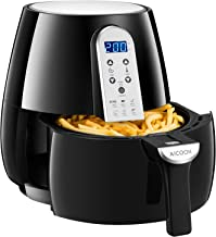 Air Fryer, Aicook Oilless Air Fryer Oven Perfect Capacity for Small-Size Family, 360° Rapid Air Heating, Auto-Off Function, Dishwasher Safe Basket, 1500W 4.5QT Hot Air Fryer