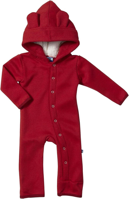 Kickee Pants Fleece Coverall (Baby) - Brick-3-6 Months