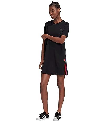 adidas Originals 3-D Trefoil Tee Dress (Black) Women