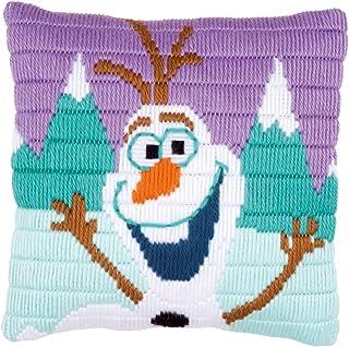 Vervaco Long Stitch Kit: Disney: Cushion: Frozen Olaf, NA, 25 x 25cm