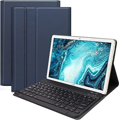 YGoal Tastatur H lle f r Huawei M6 10 8 QWERTY Englische Layout Ultrad nn PU Leder Schutzh lle mit Abnehmbarer drahtloser Tastatur f r Huawei MediaPad M6 10 8 Blau Schätzpreis : 25,95 €
