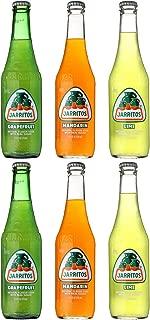 Jarritos Mexican Soft Soda Drink, Grapefruit, Mandarin, Lime - Variety Pack, 12oz Glass Bottle (Pack of 6, Total of 72 Fl Oz)