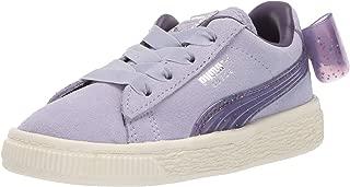 PUMA Girls' Suede Bow Jelly Sneaker