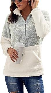 Chase Secret Womens Long Sleeve Zip Sweatshirt Fleece Pullover Outwear Coat Pockets(S-XXL)
