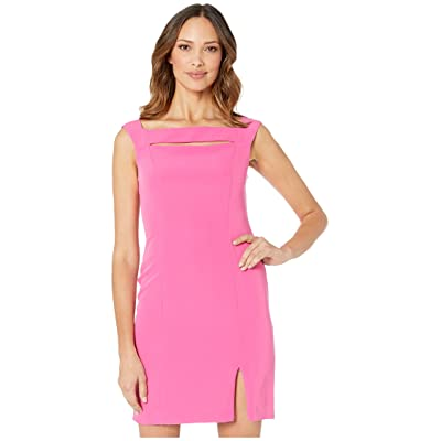 Laundry by Shelli Segal Cut Out Cocktail Dress (Lipstick Pink) Women