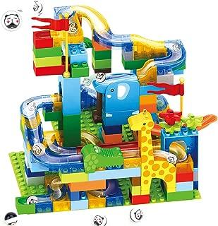 AUGYMERコースター積み木おもちゃ コースターブロック スロープトイ DIY積み木 組み立てパズル ビーズコースター 玉の道 スロープおもちゃ ルーピング ビー玉積み木転がし クーゲルバーン ジェットコースター 立体パズル 積み木 迷路おもちゃ 知育おもちゃ 子ども玩具 カラフルな積み木 贈り物 迷路パズル 知育玩具 カラフルな積み木 誕生日お祝い クリスマスプレゼント 女の子 男の子 赤ちゃんおもちゃ 玉落とし ボール落とし入園祝い 新年 ギフト 幼稚園 保育園 小学生 孫 プレゼント レゴブロック兼用 想像力 創造力育てる ジャングル大冒険