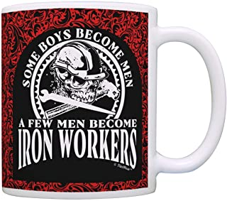 Fathers Day Gifts Some Boys Become Men Few Become Iron Workers Dad Gift Coffee Mug Tea Cup Paisley