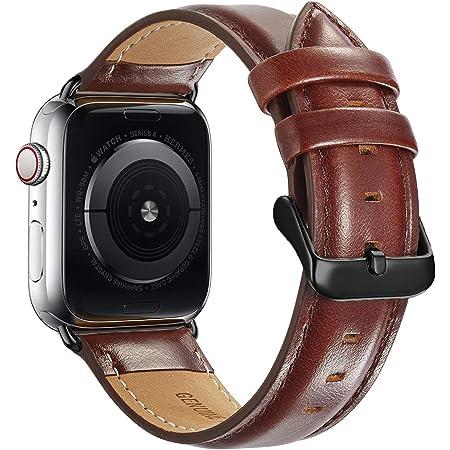 iBazal Compatible avec iWatch Series 6 Se 5 4 Bracelet 40mm Cuir 38mm S/éries 3 S/éries 2 S/éries 1 Bandes Straps Hommes Femmes Montres Ceintures Remplacements Bands Watchbands Marron 38//40
