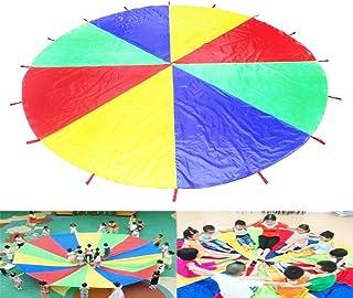 Rainbow Umbrella  Children's Game Parachute para Balloon  4 Color Play Parachute  Kindergarten Nursery School Sports F...