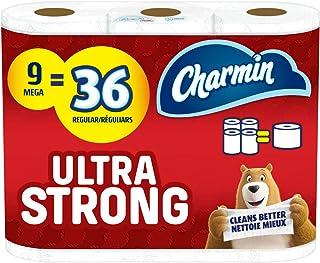 Charmin Ultra Strong Toilet Paper 9 Mega Roll, 286 Sheets Per Roll
