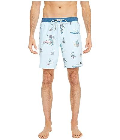 Salty Crew Pescador Elastic Boardshorts (Aqua) Men