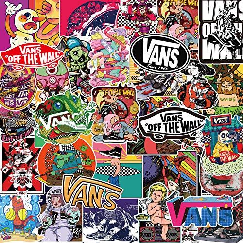 Later Vance Logo Aufkleber Vans, Koffer, Koffer, Laptop, Skateboard, Handy, Tide, Markenaufkleber, 100 Stück