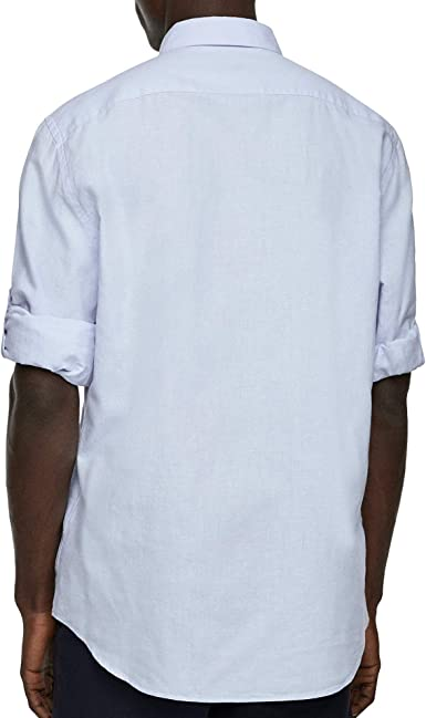 Zara 7545/402/403 - Camisa para Hombre Azul Azul XXL: Amazon ...