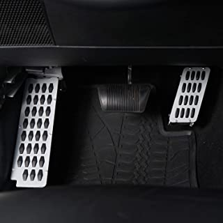 Foot Rest Dead Pedal Foot Kick Panel & Heighten Gas Pedal Kit for 2007-2018 Jeep Wrangler JK & Unlimited