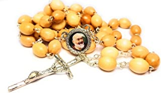 3rd class relic rosary Saint Padre Pio Pietrelcina stigmata Francesco Forgione Capuchin patron of Civil defense volunteers Adolescents Stress relief Italy Malta enfermos