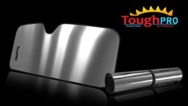 ToughPRO Windshield - Sun Shade - Compatible with Dodge RAM 1500 - Heat Automation - Custom-Fit - Hand Made - UV Reflector - Block UV Rays - 2019, 2020 (Made in USA)
