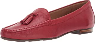Driver Club USA Womens 25641-RG Womens Genuine Leather Made in Brazil Palm Beach Loafer