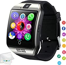 Bluetooth Smart Watch Unlocked Watch Pedometer Fitness Tracker Facebook Call Sync Reminder Smartwatch Compatible with Android Samsung Galaxy S9 S8 S7 A50 A60 Huawei LG G7 G6 Men Women Kids Boys Silver
