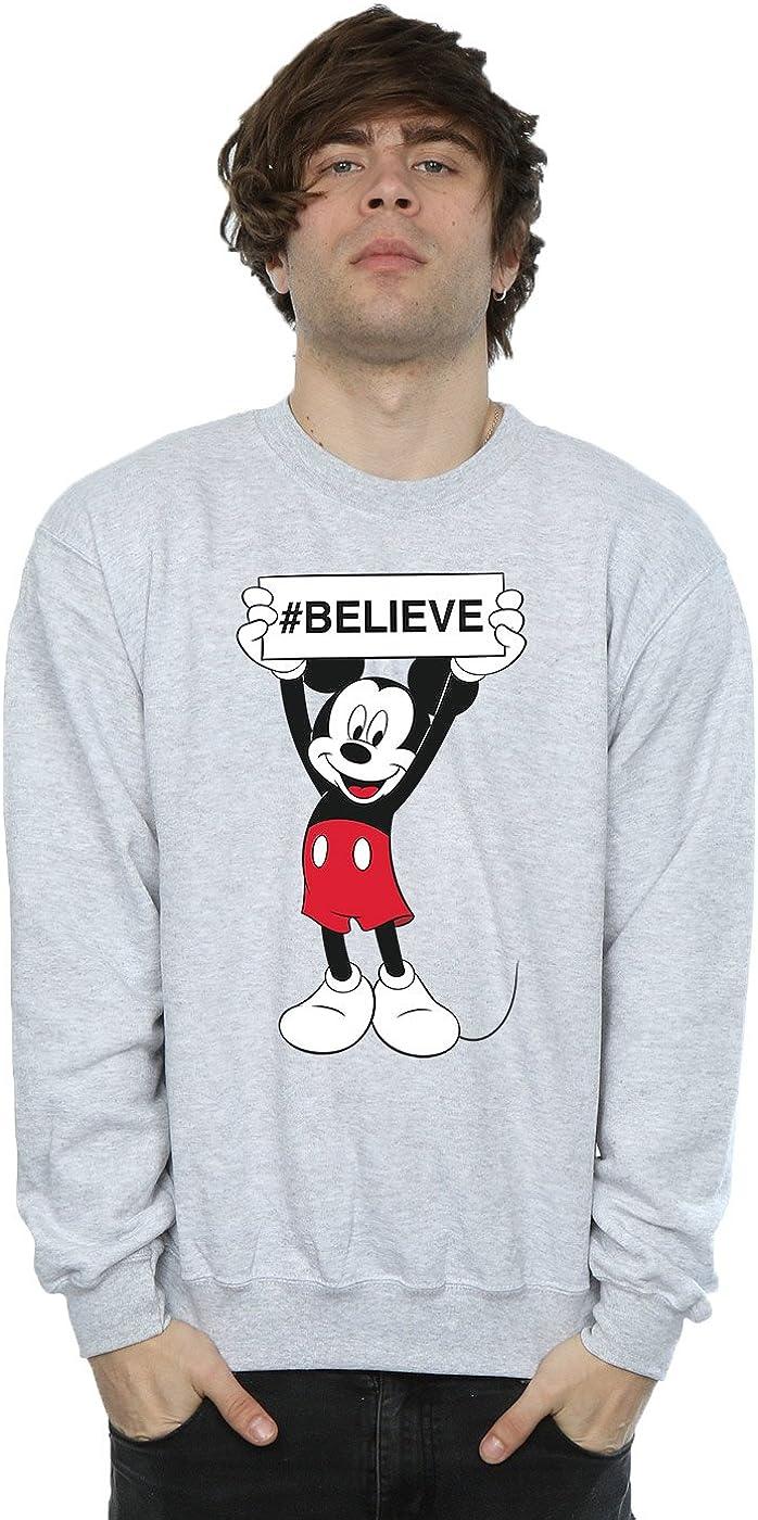 Disney Men's Mickey Mouse Believe Sweatshirt