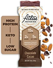 Atlas Bar – Keto Protein Bars Chocolate Cacao – High Protein Low Sugar Low Carb Grass Fed Whey Healthy Protein Gluten Free Soy Free 10-Pack Estimated Price : £ 70,95