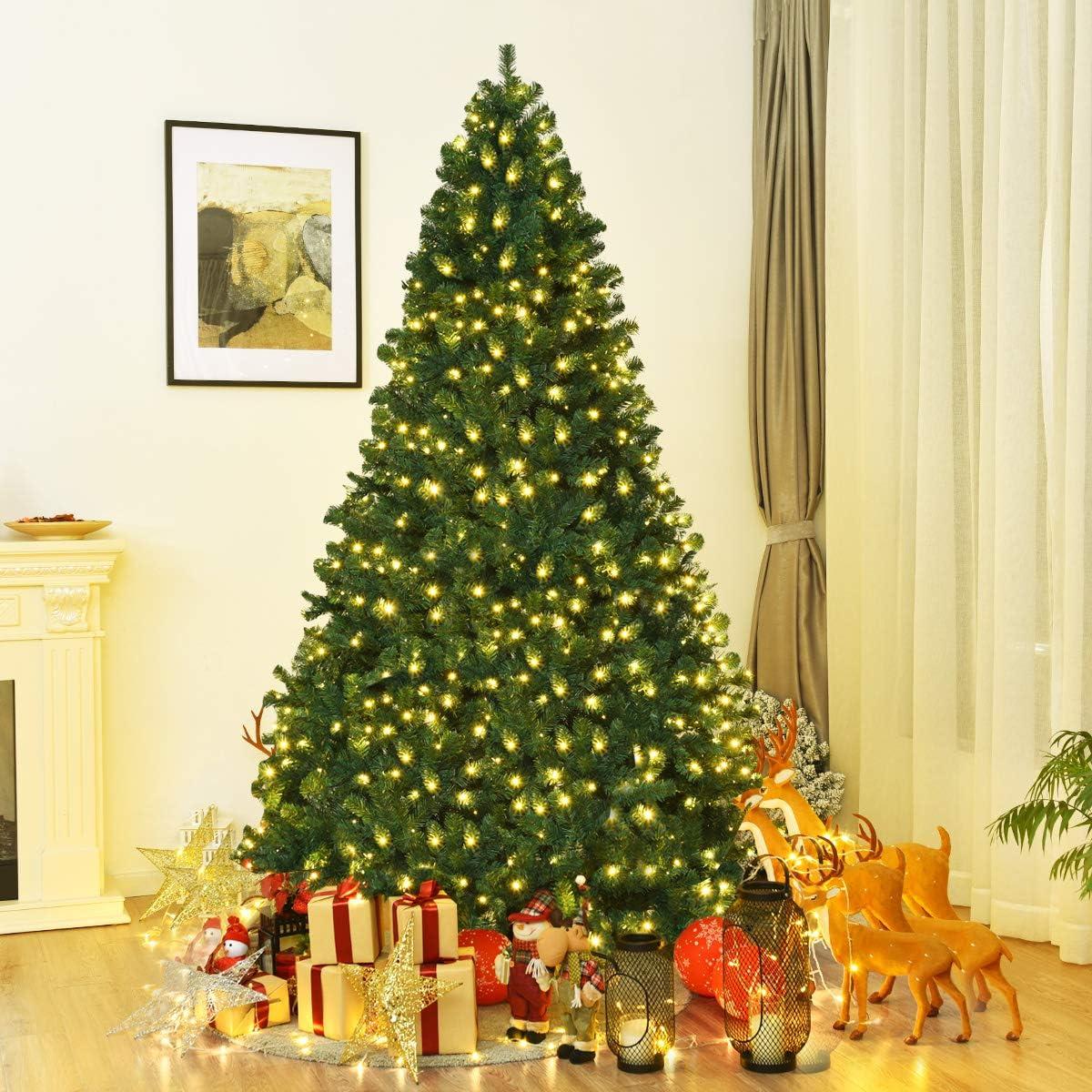 Goplus Pre-Lit Max Ranking TOP18 82% OFF PVC Artificial Christmas Auto-Spread u Close Tree