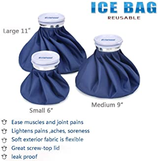 Elitehood Ice Cold Pack Reusable Ice Bags Hot Water Bag for Injuries, Hot & Cold Therapy and Pain Relief with Elastic...