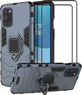 EasyLifeGo for OnePlus 8T / OnePlus 8T 5G Kickstand Case with Tempered Glass Screen Protector [2 pieces], Hybrid Heavy Dut...