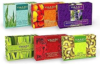 Vaadi Herbals Exotic Flavors Luxurious Handmade Herbals Soaps, 75g (Pack of 6)