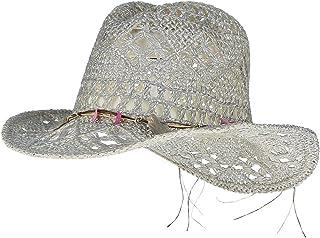 21356922676 Gemvie Women Hollow Out Western Style Straw Cowboy Cowgirl Hat Fedora Cap
