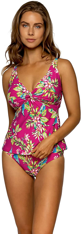 数量限定アウトレット最安価格 Sunsets Women's Forever Bra Sized Tankini 商舗 Hidd with Top Swimsuit