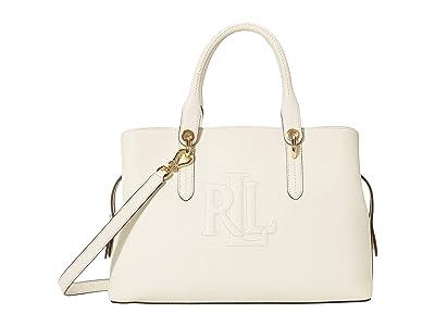 LAUREN Ralph Lauren Hayward 34 Medium Satchel (Vanilla) Handbags
