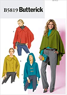BUTTERICK PATTERNS B5819 Misses' Wrap and Cape, Size Y (XSM-SML-MED)