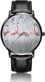 Sponsored Ad - FQJNS Women Watch Men Watch Fashion Custom Image Custom Leather Ultrathin Wristwatch Unisex Watches
