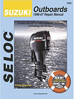 Seloc Suzuki 4-Stroke Outboard Engine Repair Manual, 1996-2007