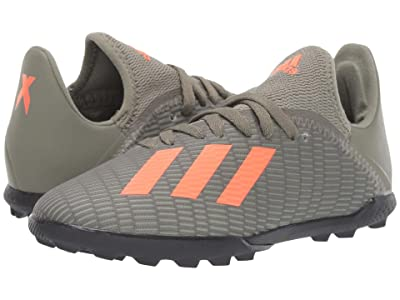 adidas Kids X 19.3 TF Soccer (Little Kid/Big Kid) (Legacy Green/Solar Orange/Chalk White) Kids Shoes