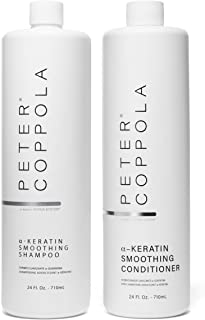 Peter Coppola a-Keratin Smoothing Shampoo & Conditioner Set 24 oz - Smooth Shiny Hair - Frizz Free Hair - Healthy Strong Hair