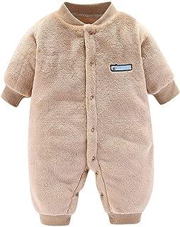 Runuo Neugeborenes Baby mit Kapuze Strampler,Baby Jumpsuit Schneeanzug Onesies Winter Outwear Outfits