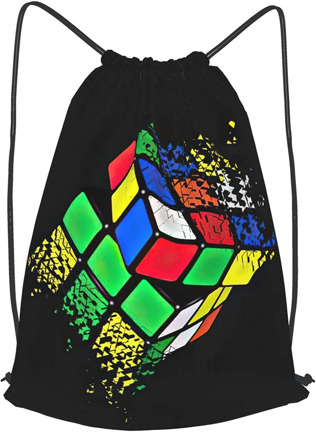 KXT Autism Ranking TOP12 Cheap sale Awareness Rubiks Cube Drawstring Backpack Bags Sackpa