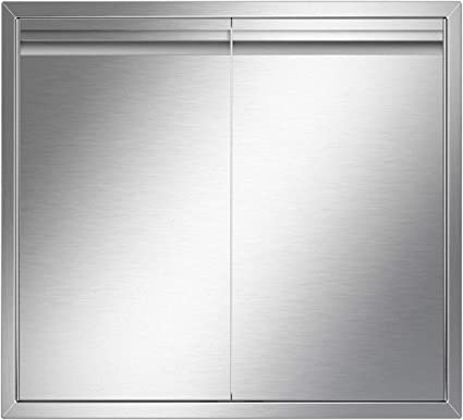 Amazon Com Yitahome Outdoor Kitchen Doors 24 W X 24 H 304 Stainless Steel Bbq Access Door Brushed Double Wall Construction Door For Outdoor Indoor Kitchen Grill Station Barbecue Grill Bbq Island