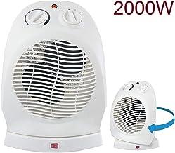 AVANT A7560 - Calefactor De Aire Oscilante 2000w con 2 Niveles De Potencia: 1000w - 2000w. Función Ventilador, Protección Térmica, Función Oscilante. Color Blanco