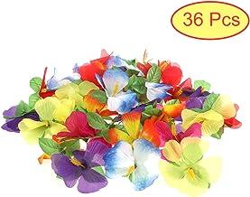 YeahiBaby 36pcs Hibiscus Flores Hawaiian Flores para DIY Tabletop Decoración Fiesta Confetti