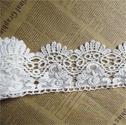ribbon very beautiful white lace stripe white width 2.5 cm