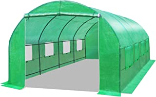BenefitUSA Multiple Size Large Greenhouse Walk in Outdoor Plant Gardening Hot Greenhouse (20X10X7 FT)