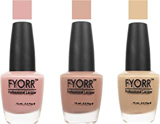 FYORR Sand In My Suit Collection Nail Polish - Set of 3 (15 Ml Each)