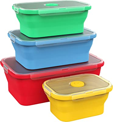 Vremi Silicone Food Storage Containers - Best kitchen appliances for college students