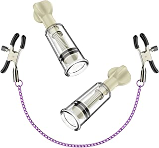Kixnor 乳首乳首クリトリスが拡大真空吸盤ポンプTwisteを強化 と ズ コスプレニップルクリップニップルクリップ